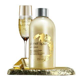 Aksamitny eliksir do kąpieli szampan i kwiat lotosu -Avon